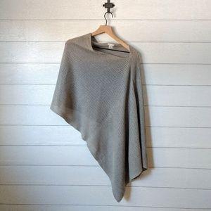 J Jill Gray Island Breeze Poncho Sweater OS